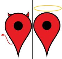 Google Places Caricature