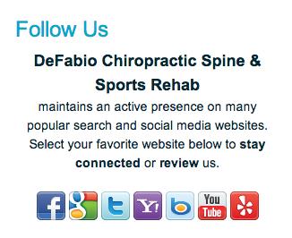 DeFabio Chiropractic's social buttons